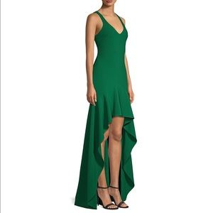 Likely Women's Green Sylvie Ruffled High-low Gown